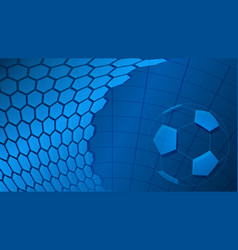 Soccer background in light blue colors vector