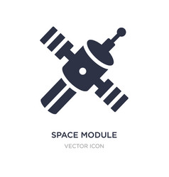 Space module icon on white background simple vector