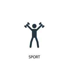 sport icon simple element sport vector image
