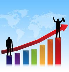 Successful stock market vector