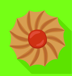 swirl biscuit icon flat style vector image