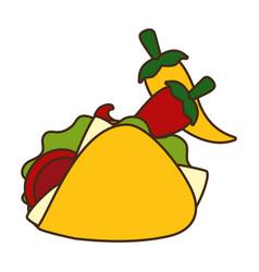 taco chili pepper vector image