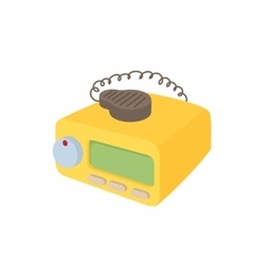 Taxi radio icon cartoon style vector