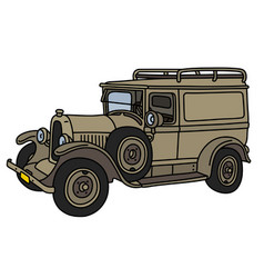 The vintage military car vector