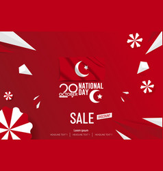 Turkey independence day sale background vector