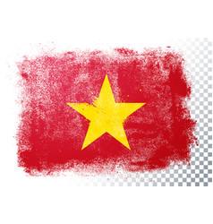 Vintage grunge texture flag vietnam vector