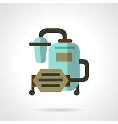 Water filter system flat icon vector