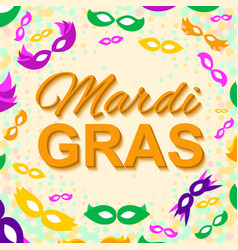 background with mardi gras mask vector image