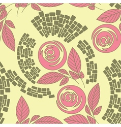Beautiful seamless floral pattern vector image vector image