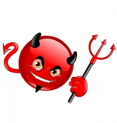 devil emoticon vector image vector image