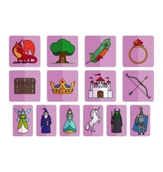 Fairy tale elements set vector image