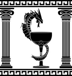 fantasy pharmacy symbol vector image vector image