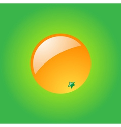 Glossy orange vector image vector image