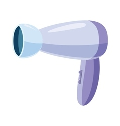 Hairdryer icon in cartoon style vector image