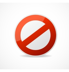 No Sign Red isolated on white vector image