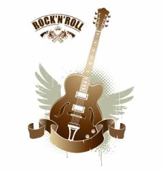 rock n roll image vector image vector image