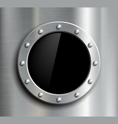 Round window in a metal fuselage vector image vector image