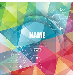 Abstract technology communication design vector image vector image