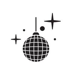 disco ball icon shiny illuminated simbol vector image