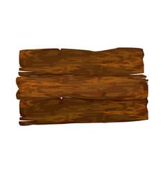 empty wooden signpost vector image vector image