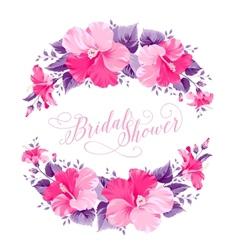 Hibiscus flower wreath vector image