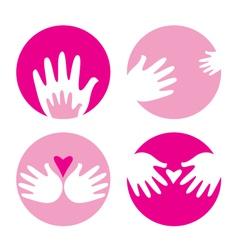 motherhood helpful hands vector image