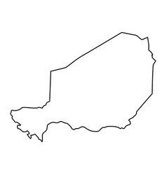 niger map of black contour curves on white vector image
