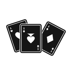 Playing cards icon simple style vector image vector image