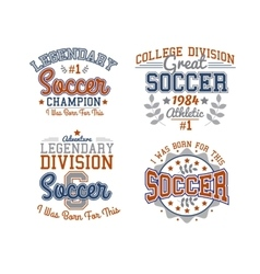 Soccer Badges Collection vector image