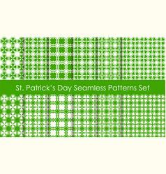 st patricks day holiday seamless pattern set vector image