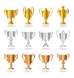 trophies vector image vector image