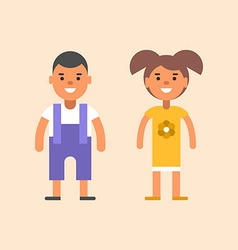 Two children stading apart boy and girl vector