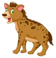 cute hyena cartoon posing look at camera vector image