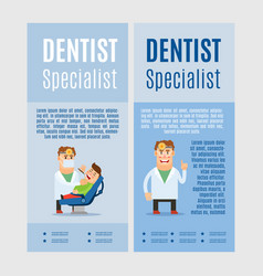 dentist specialist vertical flyers vector image vector image