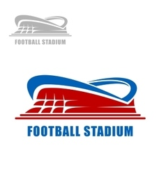 Football or soccer stadium building icon vector image vector image