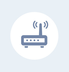 router icon isolated on white vector image vector image