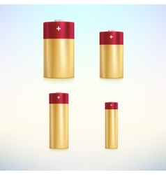 Set of colored battery icons vector image vector image