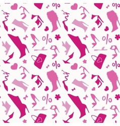 Women shoes Seamless pattern vector image vector image