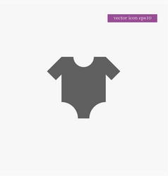 baby cloth icon simple vector image