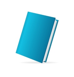 book cover blue perspective vector image