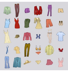 clothing templates vector image vector image