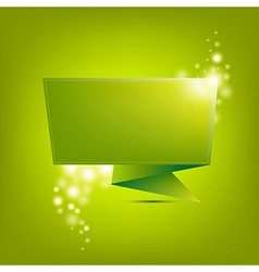 Green Paper Origami vector image vector image