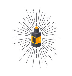 Isometric block sunray burst electric cigarette vector