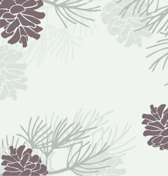 Pinecone Background vector image vector image