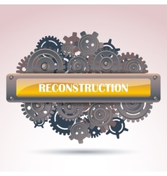 Reconstruction frame vector image vector image