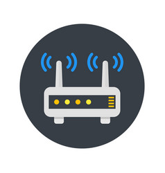 router modem icon in flat style vector image vector image