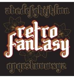 3d fantasy gothic font vector