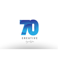 70 blue gradient number numeral digit logo icon vector
