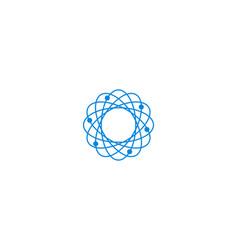 Abstract biotechnology molecule atom dna logo vector