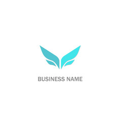 abstract wing company logo vector image